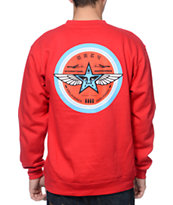 Obey International Propaganda Red Crew Neck Sweatshirt