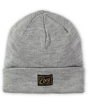 Obey Jobber Heather Grey Fold Beanie