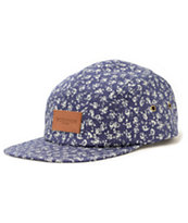 Obey Jubatus Indigo 5 Panel Hat
