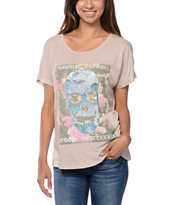Obey L'Amour Eternal Beige Dolman Tee Shirt