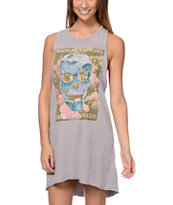Obey L'Amour Eternal Grey Rider Open Back Dress