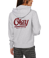 Obey LE Worldwide Heather Grey Hoodie
