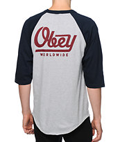 Obey Le Worldwide Baseball T-Shirt