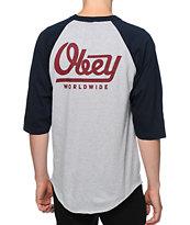 Obey Le Worldwide Baseball T-Shirt