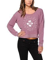 Obey Live It Dream It Crop Crew Neck Sweatshirt