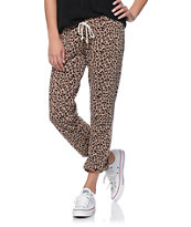 Obey Lola Clay Cheetah Print Sweat Pants