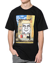 Obey London Icon Photo Black Tee Shirt