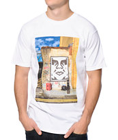 Obey London Icon Photo White Tee Shirt