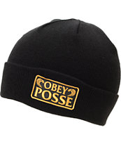 Obey Los Cobras Black Fold Beanie