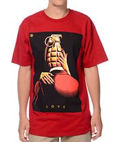 Obey Love Is The Drug Red T-Shirt