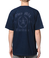 Obey Lower East Side Navy Tee Shirt