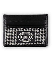 Obey Lowlands Houndstooth ID Cardholder Wallet