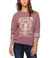 Obey MANW 2 Crew Neck Sweatshirt