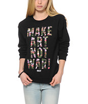 Obey MANW Floral Fill Throwback Crew Neck Sweatshirt