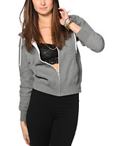 Obey MANW Grey Zip Up Hoodie