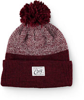 Obey Madison Burgundy Pom Beanie