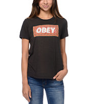 Obey Magic Carpet Black Back Alley Tee Shirt