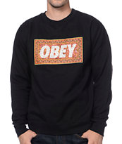 Obey Magic Carpet Black Crew Neck Sweatshirt