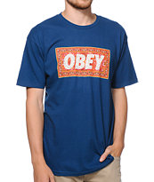 Obey Magic Carpet Blue Tee Shirt