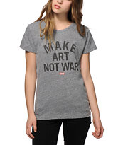 Obey Make Art Not War Block Font T-Shirt