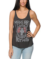 Obey Make Art Not War Graphite Tank Top
