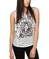 Obey Make Art Not War White Tie Dye Muscle Tee