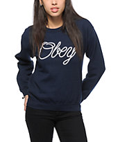 Obey Make Die Script Crew Neck Sweatshirt