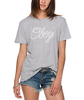 Obey Make Due Script T-Shirt