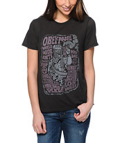 Obey Marcos Black Back Alley Tee Shirt