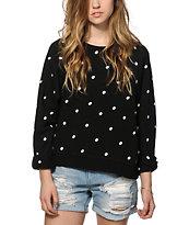 Obey Marlow Polka Dot Crew Neck Sweatshirt