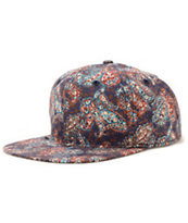 Obey Marseilles Navy Paisley Strapback Hat