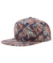 Obey Marseilles Navy Paisley Strapback Hat