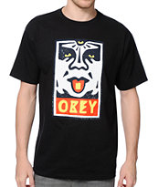 Obey Mega Dose Black Tee Shirt