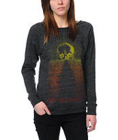 Obey Midnight Sun Heather Black Vandal Crew Neck Sweatshirt