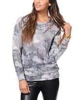 Obey Monty Floral Print Crew Neck Sweatshirt
