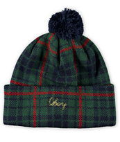 Obey Morton Plaid Pom Beanie