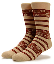 Obey Multnomah Oatmeal Crew Socks