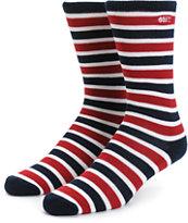 Obey Myrtle Stripe Crew Socks