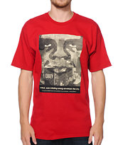 Obey NYC Smog Burgundy Tee Shirt