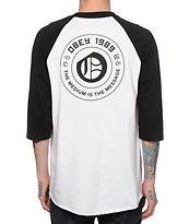 Obey New English Baseball T-Shirt