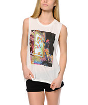Obey Night Visions Moto Cut-Off Tank Top