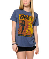 Obey No Runs Drips Errors Tee Shirt