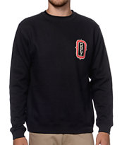Obey O Monogram Black Crew Neck Sweatshirt