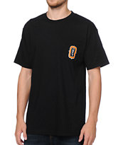 Obey O Monogram Black Pocket Tee Shirt