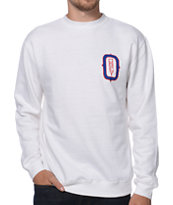 Obey O Monogram White Crew Neck Sweatshirt