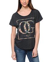 Obey OG Floral Black Dolman T-Shirt