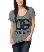 Obey OG Forever Heather Grey Mock Twist Tee Shirt
