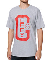 Obey OG Heather Charcoal Tee Shirt