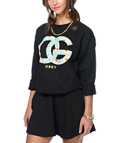 Obey OG Island Black Crew Neck Sweatshirt