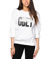 Obey OG NY Skyline White Crew Neck Sweatshirt